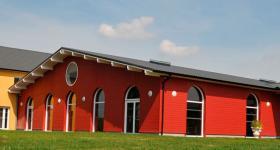 Salle vue du parc du Domaine du Bois de l'Arc
